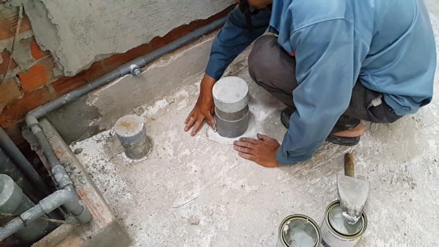 Chống thấm sàn toilet ở tại tphcm