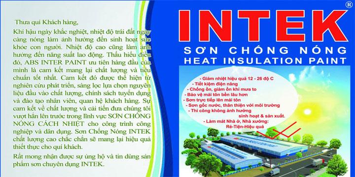 Bảng báo giá sơn chống nóng intek