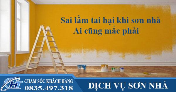Sai lầm tai hại khi sơn nhà ai cũng mắc phải