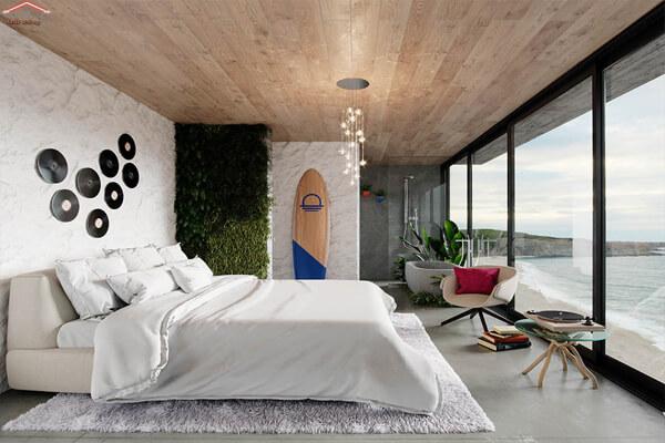 Phòng ngủ với thiết kế ấn tượng