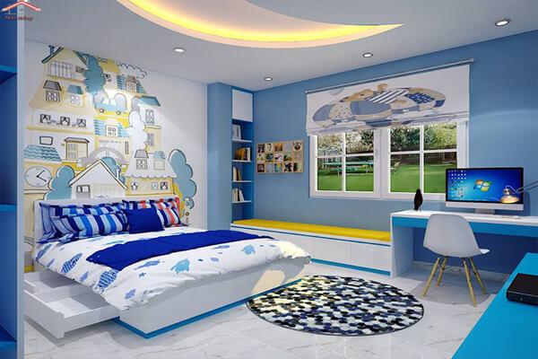 Mẫu phòng ngủ cho những bé trai