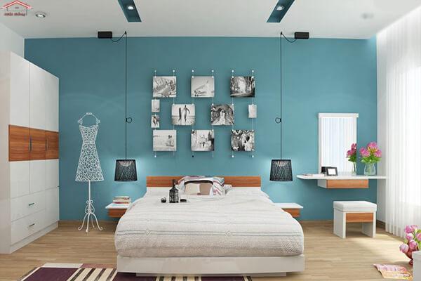 Phòng ngủ tuy đơn giản mà đẹp