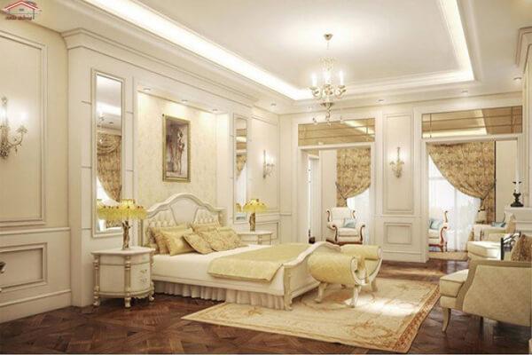 Phòng ngủ tân cổ điển tuyệt đẹp