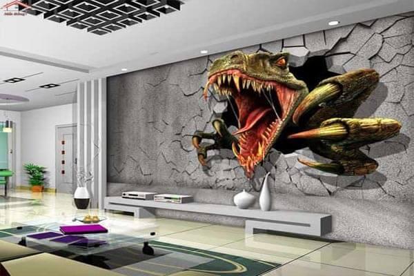 Trang trí phòng khách đẹp với tranh 3D