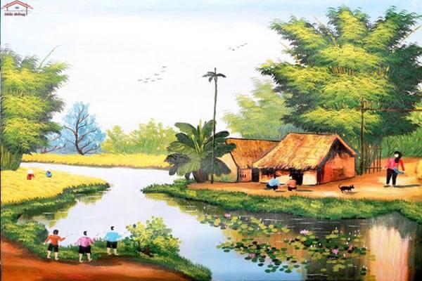 Tranh vẽ quê hương
