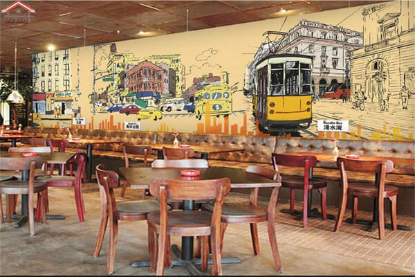 Vẽ tường nhà hàng