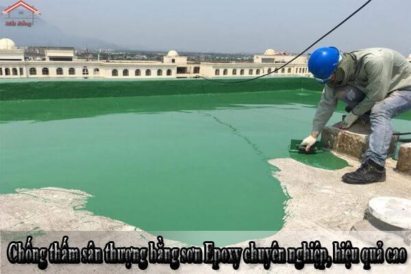 Chống thấm sân thượng bằng sơn Epoxy chuyên nghiệp, hiệu quả cao